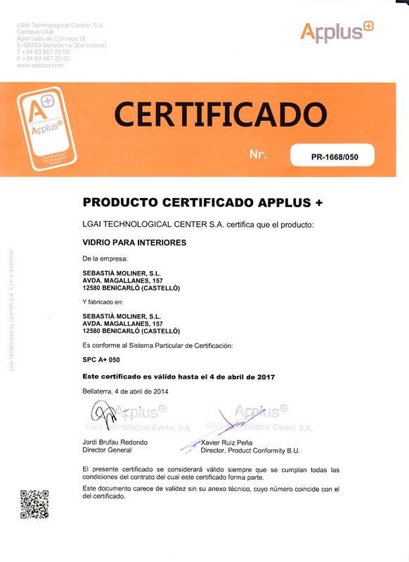 Certificado Applus